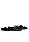Pre owned MIU-MIU Black Leather Ballet