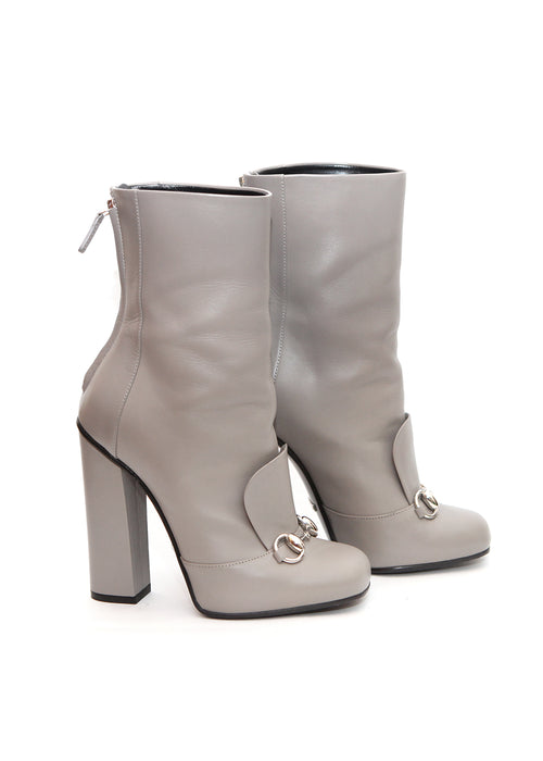 Pre owned GUCCI Grey Mid-Calf Boots