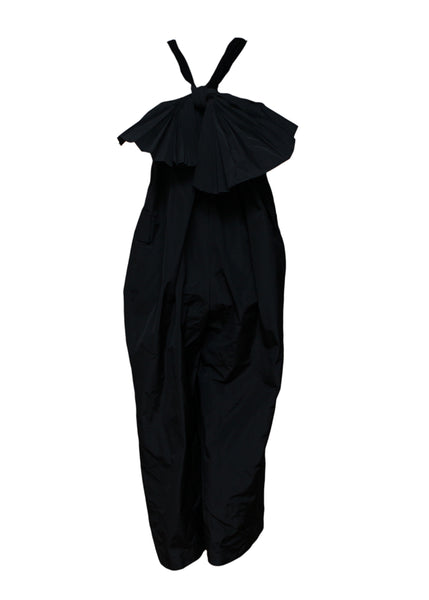 Black Overall with Bow