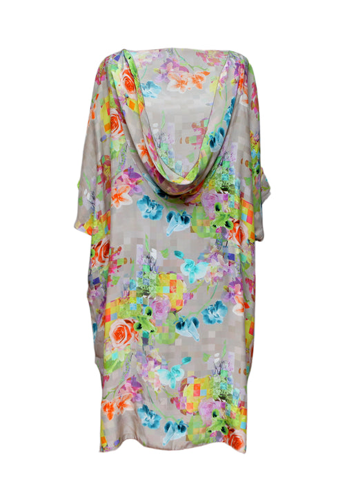 Silk Dress with Flower Prints