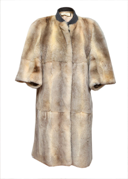 Luxury Marni Grey & Beige Color Fur