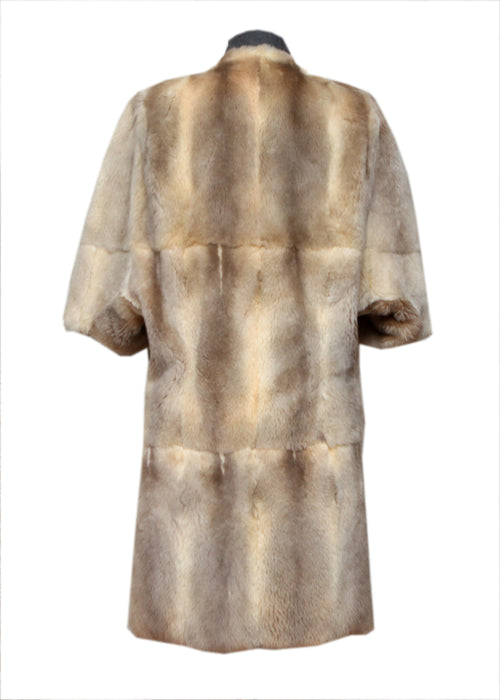 Luxury Marni Grey & Beige Color Fur - back view