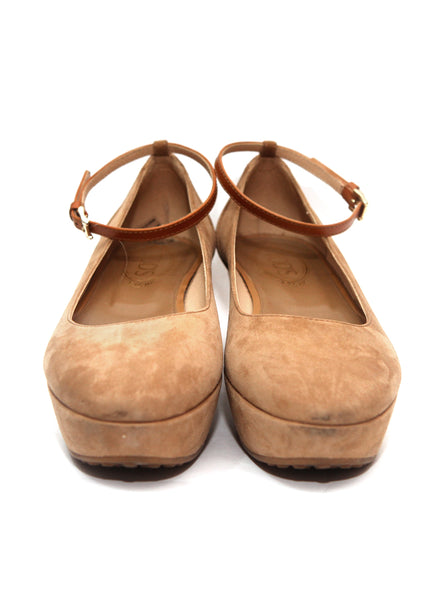 front view of Luxury TOD'S Beige Color Ballets