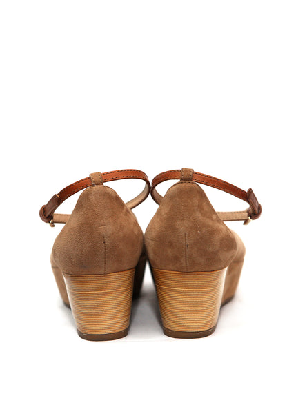 back view of Luxury TOD'S Beige Color Ballets