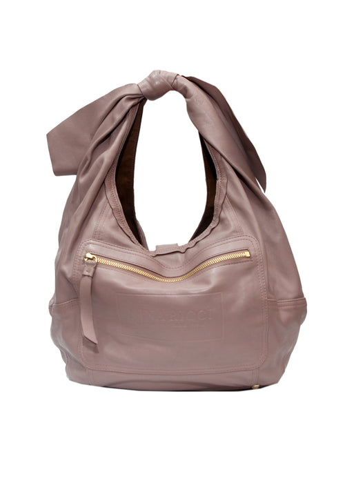 Back view of Luxury NINA RICCI Pale Lilac Color Bag