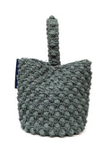 back view of Straw Bucket Bag created by Azerbaijani designer ULkart