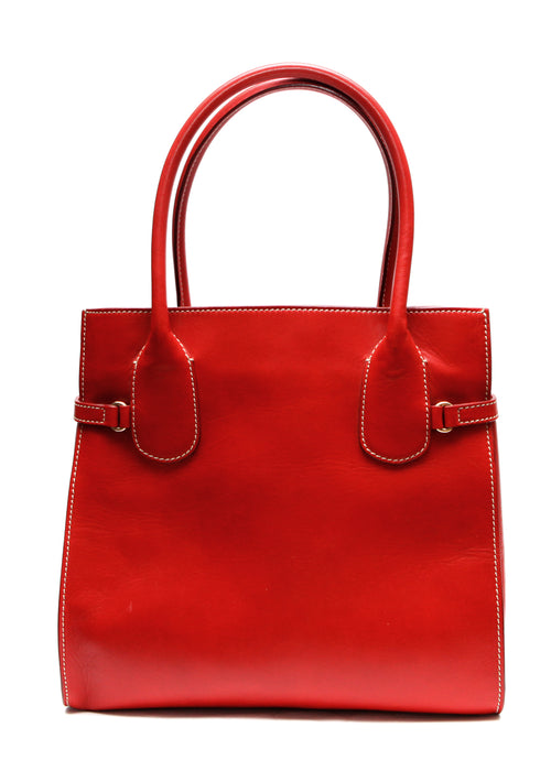 Back view of Luxury ESCADA Red Leather Bag