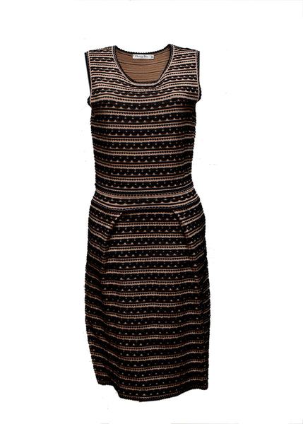 Luxury CHRISTIAN DIOR Black & Brown Dress