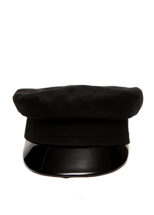 Fully Black Handmade Cap by Azerbaijan fashion designer