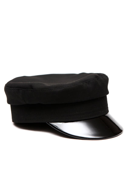 right view of Fully Black Handmade Cap created by Azerbaijani designer