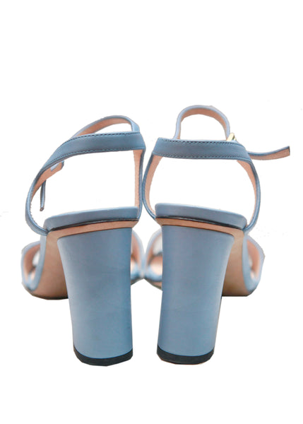 Gucci navy blue leather sandals back