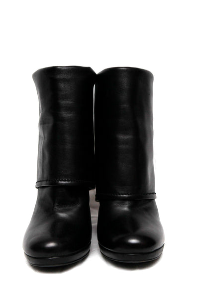front view of leather boots from Prada