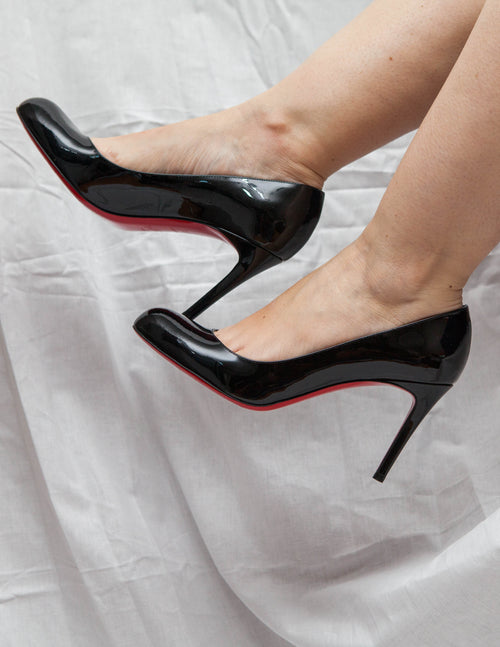 Black Patent Pumps