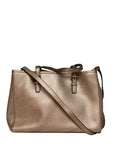 Michael Kors gold saffiano leather tote bag