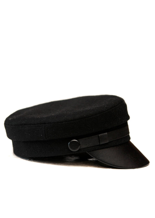 Black Wool Cap