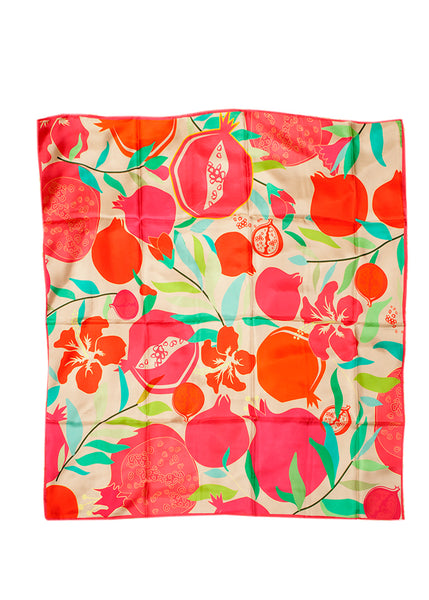 Sevil art silk pomegranate scarf