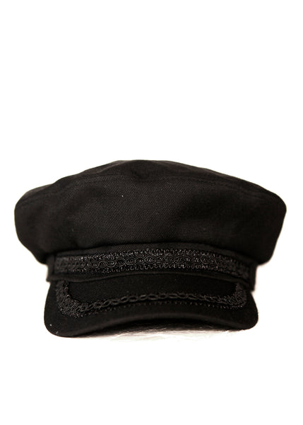 Black Cotton Cap