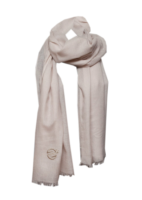Sevil Art grey silk cashmere scarf