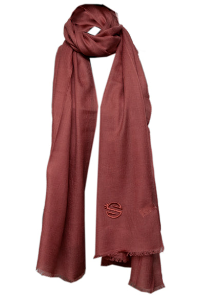 bordeaux  silk and cashmere scarf