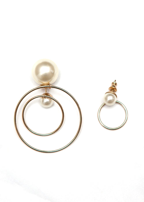 Christian Dior pearl tribal earrings