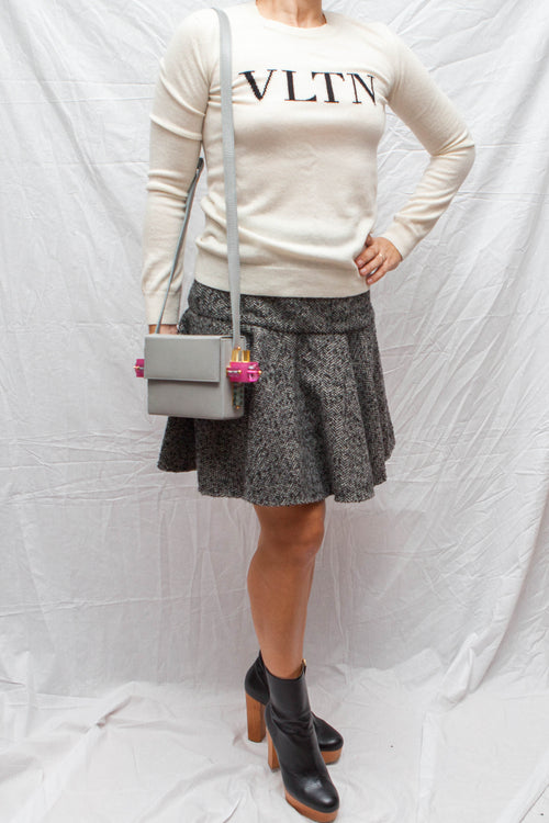 front view of Dolce&Gabbana wool mix skirt