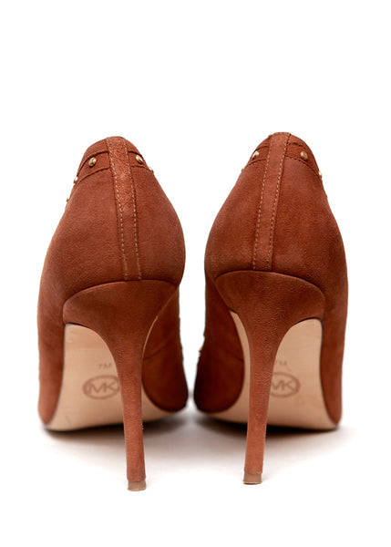Luxury MICHAEL KORS Brown Beige Stilettos