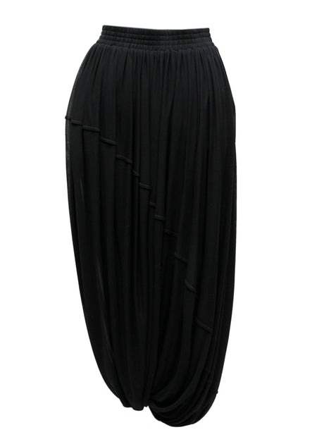 Black Structured Skirt