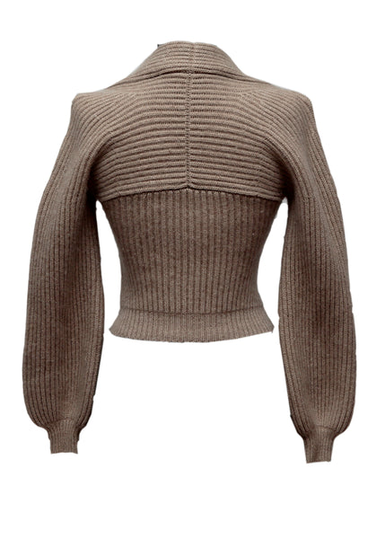 Grey/Beige Wool Sweater