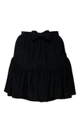 Pre owned MIU-MIU Black Silk Skirt