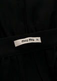 logo on pre owned MIU-MIU Black Silk Skirt