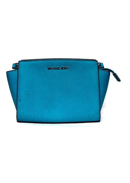 Luxury MICHAEL KORS Turquoise Leather Bag
