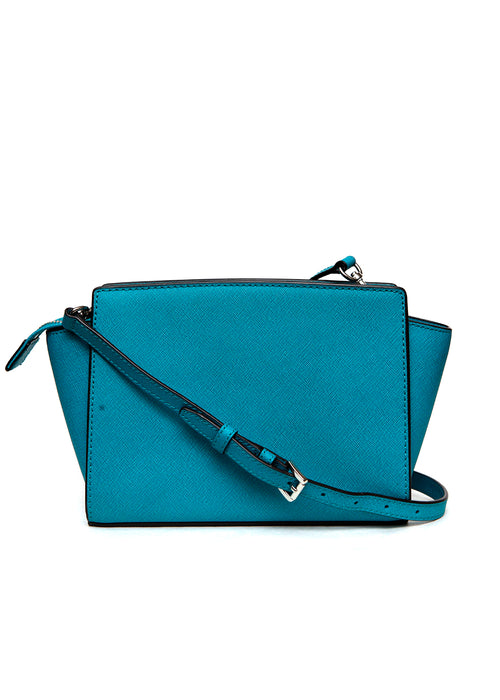 back view of Luxury MICHAEL KORS Turquoise Leather Bag