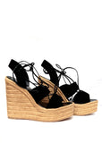 Black Velvet Wedges