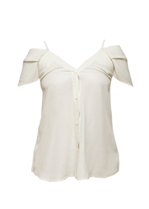 Ivory Shoulder Blouse