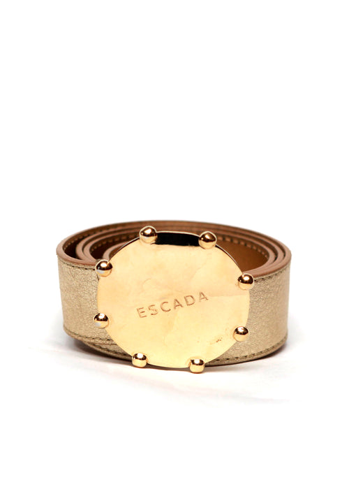 Luxury ESCADA Golden Leather Belt