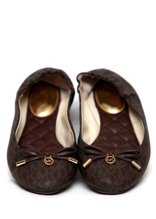 Luxury MICHAEL KORS Brown Monogram Ballets