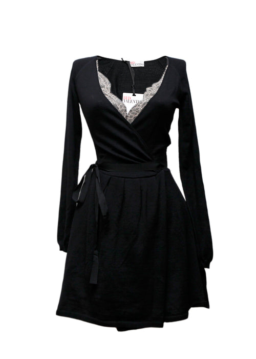 Pre owned RED VALENTINO Black Wool Dress