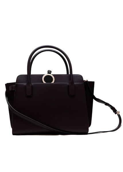 front view of leather bag from BVLGARI