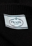 Brand tag of Prada  Black Wool Sweater