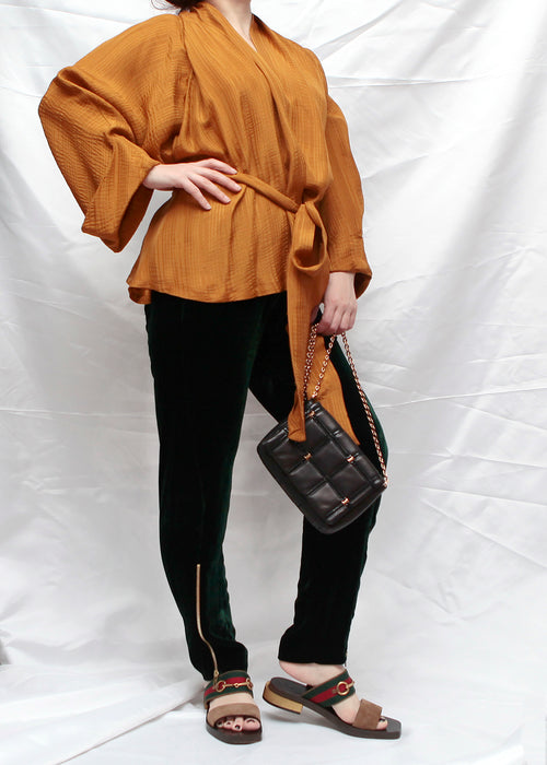 Rodebjer wrap up silk blouse