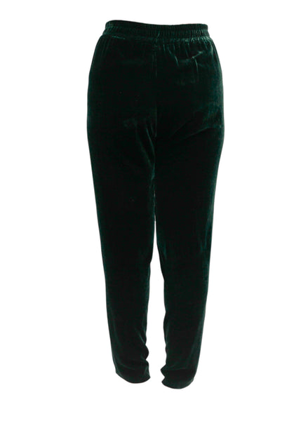 Dark Green Velour Pants