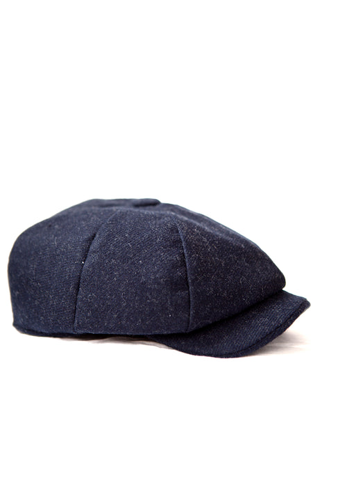 PAPAGCHI dark blue Peaky Blinders wool  hat