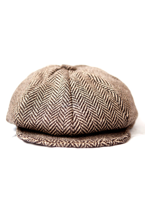 PAPAGCHI brown printed wool hat