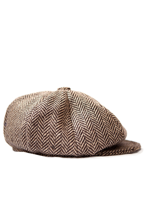 PAPAGCHI brown wool vintage style hat