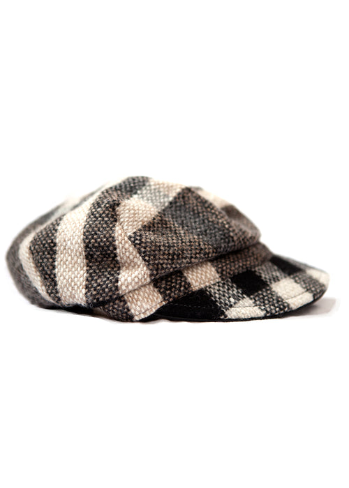 Burberry checked wool cap