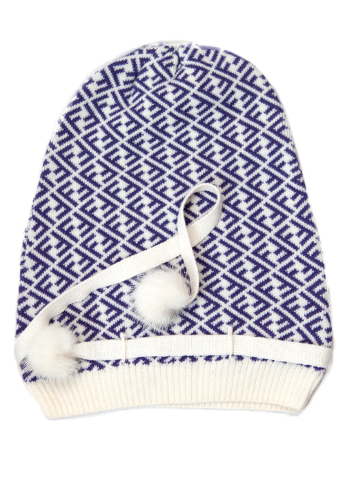 Fendi wool beanie hat in monogram