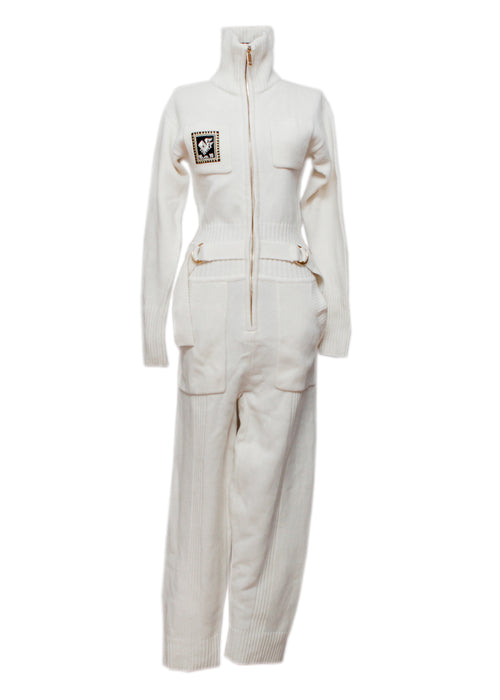 White Wool Jumpsuit