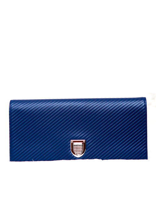 Diorama Blue Clutch