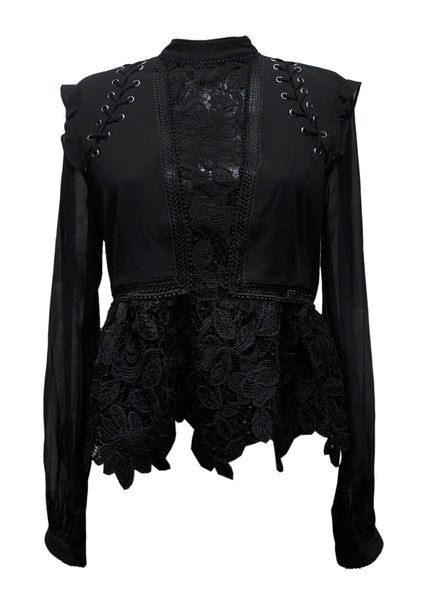 Black Detail Top