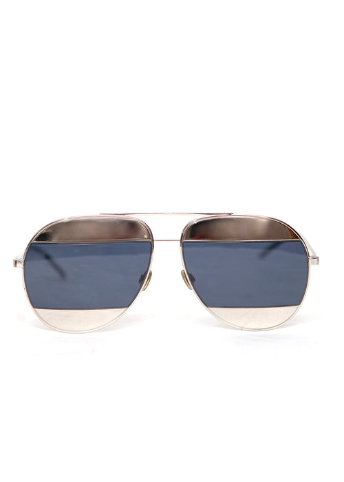 Dior Aviator Sunglasses Split 1 010KU Palladium